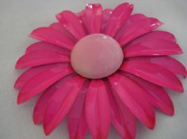 1960's Flower Brooch in Hot and Baby Pink (SOLD)